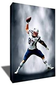 Amazon Com Rob Gronkowski Gronk Spike Painting Portrait Artwork On Canvas Art Print 8x12 Inches Posters Prints