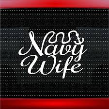 Amazon Com Noizy Graphics Navy Wife Anchor Sailor Military Car Sticker Truck Window Vinyl Decal Color Blue Automotive