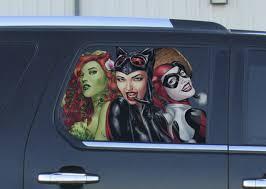 Vinyl Car Window Full Color Decal Harley Quinn Catwoman Poison Ivy Sticker Ebay