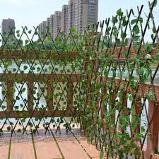40 70cm Simulation Plant Telescopic Fence Mall Decoration Wooden Fence Balcony Wooden Fence Artificial Dried Flowers Aliexpress