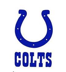 Indianapolis Colts Football Logo Vinyl Decal Sticker Car Truck Window Nfl 77121 Ebay