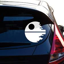 Amazon Com Yoonek Graphics Death Star Inspired By Star Wars Decal Sticker For Car Window Laptop Motorcycle Walls Mirror And More 466 4 White Automotive