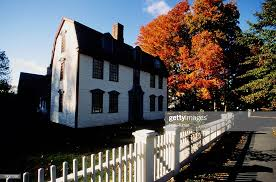 White Fence Around House Autumn High Res Stock Photo Getty Images