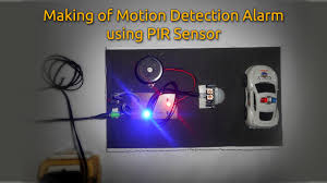 motion detection alarm using pir sensor