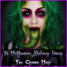 halloween makeup green hair ideas