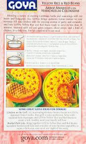 goya yellow rice red beans seasoned