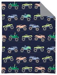 monster truck 4 piece toddler bed set