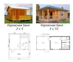 Проекты каркасной бани - Уральская дача