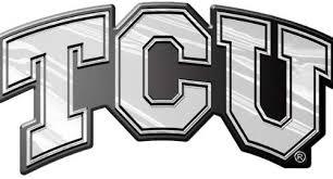 Amazon Com Tcu Horned Frogs Tcu Only Silver Chrome Colored Auto Emblem Decal Texas Christian University Automotive