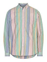akkonrad pastel proof striped shirt