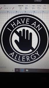 I Have An Allergy Window Decal Sticker Etsy