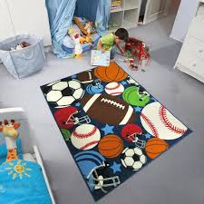 Carvapet Kids Carpet Playmat Rug Mixed Ball Sports Pattern Area Rugs For Children Room Play Learn And Have Fun Safe Area 3 Kids Rugs Kids Area Rugs Sports Rug