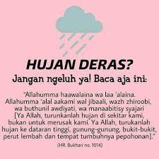 doa waktu hujan lebat islamic inspirational quotes muslim