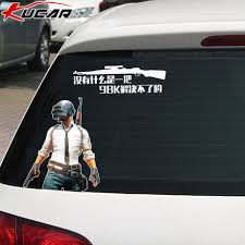 Good Luck Eating Chicken Car Stickers At Night Creative Personality 98k Playerunknown S Battlegrounds Rear Window Body