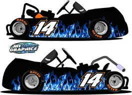 Blue Flame Racing Graphic Go Kart Wrap