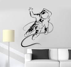 Vinyl Wall Decal Spaceman Astronaut Boy Kids Room Stickers Mural Uniqu Wallstickers4you