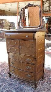 quartersawn oak hat box highboy dresser