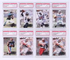 Lot of (8) 2000 Collector's Edge EG Football Cards with #150 Peyton Manning  (PSA 9), #134 Donovan McNabb (PSA 10), #141 Eddie George (PSA 10), #101  Chad Pennington RC (PSA 10) | Pristine Auction