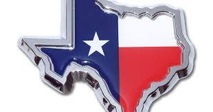 State Of Texas Flag Chrome Emblem Elektroplate