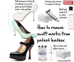 remove scuff marks from patent leather