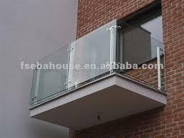 frameless glass balcony guardrail