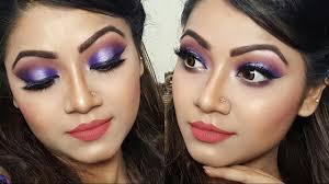purple halo eye makeup indian