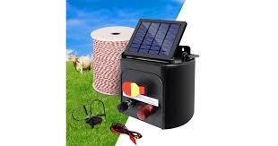 Dick Smith Giantz 5km Solar Powered Electric Fence Wire Energiser Battery Energizer Charger Tape Power Tools Accessories