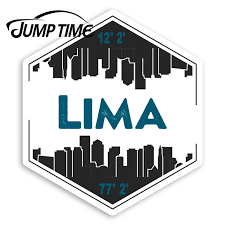 Jump Time Lima City Vinyl Stickers Peru Travel Sticker Laptop Luggagewaterproof Car Decal Trunk Car Accessories Car Stickers Aliexpress