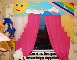 Cool Kids Room Curtain Design In Summer Colors Style