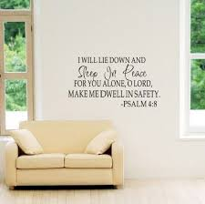 Qoo10 Sleep In Peace Bible Verse Decor Vinyl Wall Decal Quote Sticker Inspir Bedding Rugs