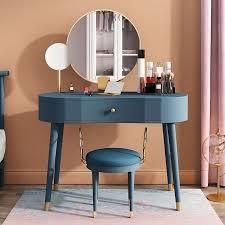 elegant makeup vanity table set with