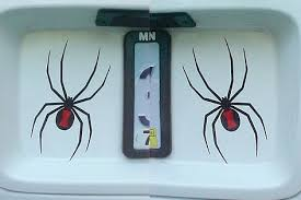 Applied Graphics Reflective Black Spider Buy Online In Antigua And Barbuda At Desertcart