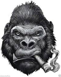 Celycasy Rip Harambe Gorilla Sticker Gorilla Decal Chimp Monkey Decal Car Laptop Vinyl Decal Sticker Exterior Accessories Cbib Cl