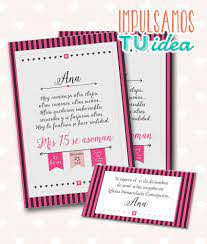 Invitacion De 15 Tarjeta De Quince Para Imprimir Fucsia