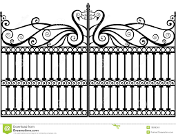 Wrought Iron Fence Gate Stock Illustrations 1 938 Wrought Iron Fence Gate Stock Illustrations Vectors Clipart Dreamstime