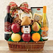 fruit cheese wines gift basket