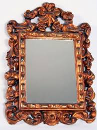 baroque style golden mirror for at