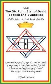 The Six Point Star of David Spelled and Symbolize Haile Selassie I ...
