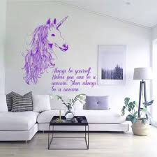 Amazon Com Wall Decals Always Be Yourself Quotes Animals Unicorn Horse Horn Mane Decal Vinyl Sticker Home Decor Room Bedroom Living Room Study Murals Ml34 Home Kitchen
