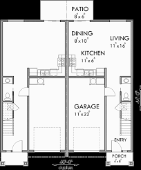 floor plan for d 599 duplex house plans