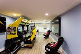 Orlando Play Room Decorating Contemporary Family Room With Gaming Chair And Video Game Console