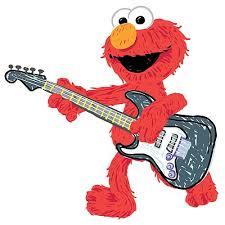Sesame Street Elmo Rock N Roll Guitar Giant Wall Decal
