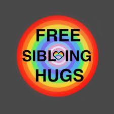 Free Sibling Hugs - Free Hugs - T-Shirt | TeePublic
