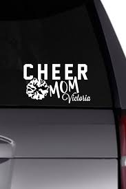 Cheer Mom Vinyl Decal Personalized Decal Cheerleading Etsy