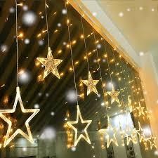 Đèn Dây Led Ngôi Sao Đèn Rèm Màu Trắng Ấm Trang Trí 12 Sao 138 Đèn Led Cửa  Sổ Icicle Tự Làm Ánh Sáng Cho Đám Cưới/giáng Sinh/ngày Lễ/tiệc - Buy Đèn