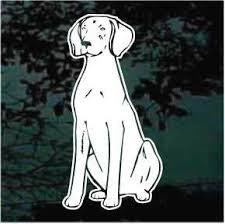 Weimaraner Dog Sit Decals Car Window Stickers Decal Junky