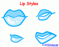 cartoon easy to draw lips clipart best