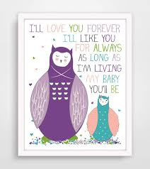 Buy Ill Love You Forever Ill Like You For Always As Long As Im Living My Baby Youll Be Wall Quote Wall Decals Wall Decal Wall Sticker In Cheap Price On Alibaba Com