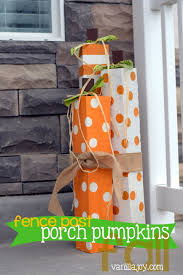 Tutorial Diy Fence Post Porch Pumpkins