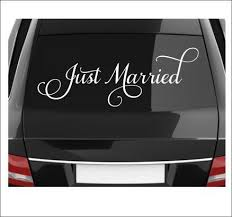 Just Married Decal Vinyl Decal Wedding Decal Wedding Decor Just Married Car Vinyl Decal Removable Decal Vinyl Decal Wedding Decal Fancy Wedding Decal Just Married Car Vinyl Decals